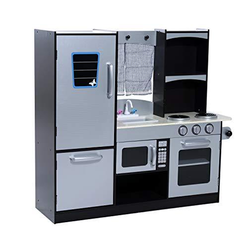 deAO Fregadero Electr/ónico de Cocina Conjunto de Juguete para Lavar Platos Accesorio de Cocinita Infantil Juegos de Imitaci/ón para Ni/ños y Ni/ñas Azul