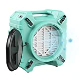 ALORAIR PureAiro HEPA Pro 770 industrial Air Scrubber, 3-Stage Filtration System, GFCI Outlet, Negative Machine, Air Scrubber for Water Damage Restoration Interior Decoration, Green