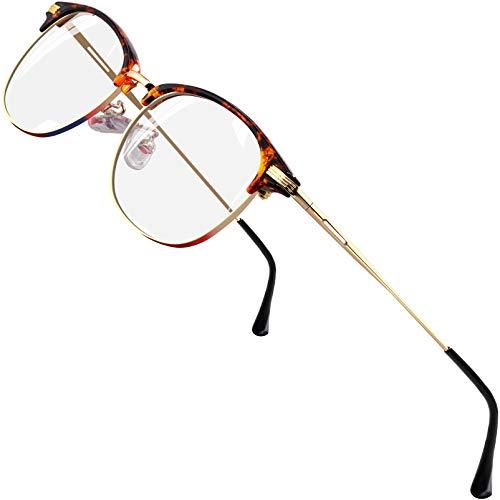 ATTCL Unisex blaulichtfilter brille computerbrille zum Blockieren von UV-Kopfschmerz [Verringerung der Augenbelastung] Gaming Brille (Herren/Damen) (Braun 5054)