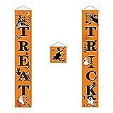 Miotlsy Hallowen - Striscione per porta trucchi o dolcetti, con motivo a ragno, per Halloween, casa, giardino, decorazione all'aperto