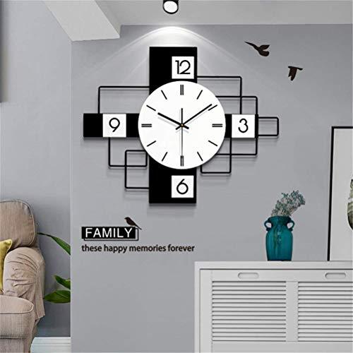 ACRHOME Muraux décoratifs en Bois Horloge, Horloges Grande Moderne Mur Non coutil Silencieux Quartz décoratifs Horloges, pour Le Salon, Cuisine, Chambres, Bureau,50×30cm