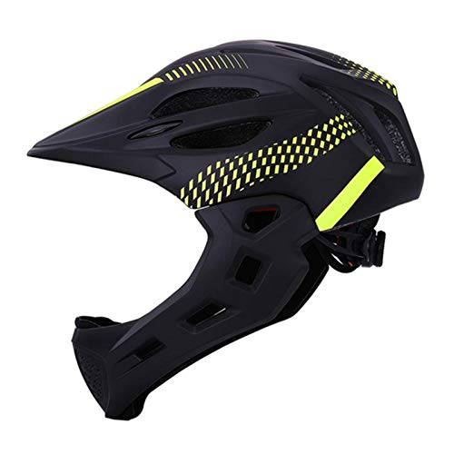 N-B Casco de Ciclismo de Carretera de montaña LED para niños, Casco de Bicicleta de Cara Completa para niños, Casco de protección Profesional Desmontable para Deportes al Aire Libre