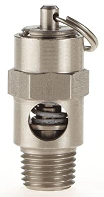 Safety Valve, Soft Seat, 1/4In, 125 PSI, SS by Conrader