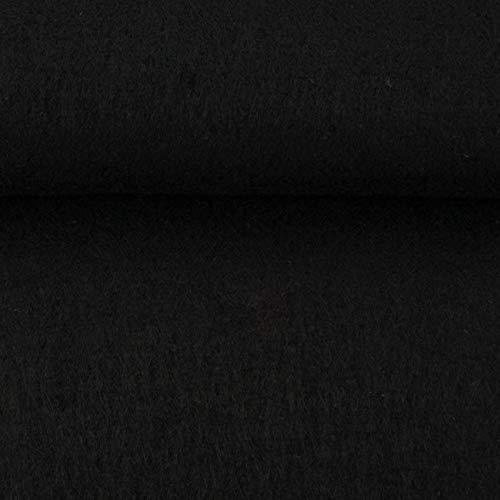 Hochwertiger Bastel-Filz 5 mm stark 670g/qm- Taschenfilz - 45 cm breit Meterware (Schwarz)