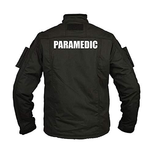 Copytec Kommando Fleecejacke Paramedic Notarzt Arzt Mediziner Rettungdienst #32420, Größe:L, Farbe:Schwarz