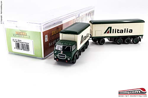 BREKINA 58432- H0 1:87 - Camion con rimorchio isotermico Fiat 690 Millepiedi baffo'ALITALIA'
