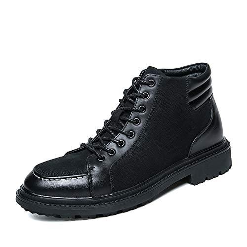 MXLTiandao Stivaletti alla Caviglia da Uomo Casual Tacco Alto Nascosto Tacco Alto Scarpa Sportiva Scarpa Oxford Scarpe (Color : Nero, Size : 43 EU)