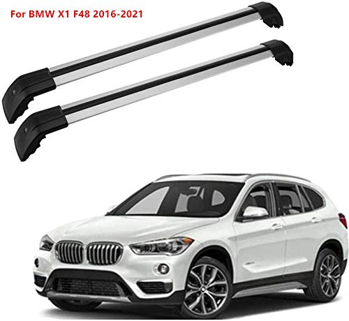 MotorFansClub Roof Rack Cross Bars Fit for Compatible with BMW X1 F48 2018 2019 2020 Crossbars Luggage Rack Top Cargo Rack
