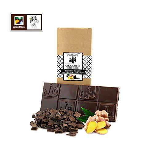 Chocolate negro artesano con jengibre