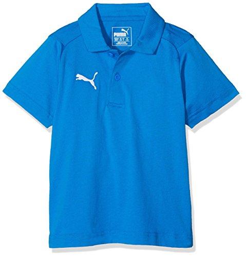 PUMA Kinder Liga Casuals Polo Jr T-Shirt, Blau (Electric Blue Lemonade-Puma White), 164