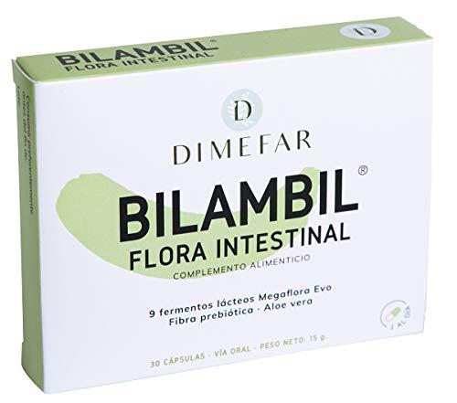 DIMEFAR - Bilambil - Complemento Alimenticio Probiótico 9 Cepas + Fibra Prebiótica + Aloe Vera - 30 Cápsulas | Mejora y Mantiene Flora Intestinal