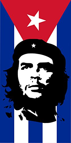 Michael & Rene Pflüger Barmstedt 10,8 x 5,4 cm Autoaufkleber Che Guevara auf Kuba Cuba Fahne Sticker Aufkleber fürs Auto Motorrad Handy Laptop