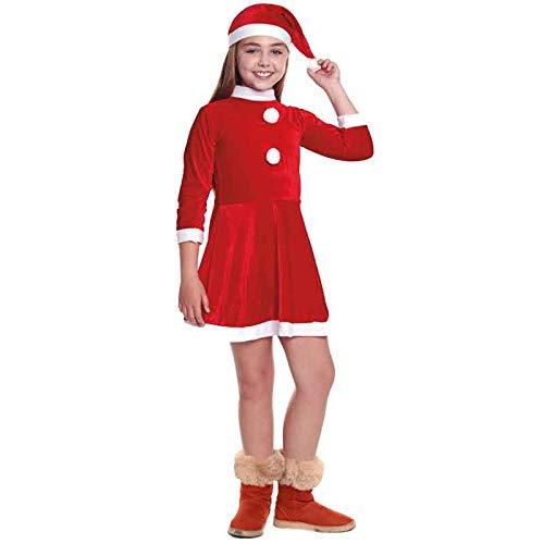 Disfraz Mamá Noel niña Infantil para Navidad (5-6 años) (+Tallas)