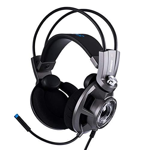 LALAHO Head-Mounted USB7.1 mit Vibration und Vibration Gaming-Headset mit Mikrofon