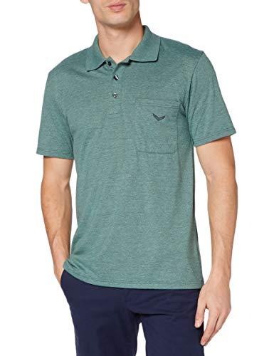 Trigema Herren 637602 Polohemd, Green-Melange, XXXL