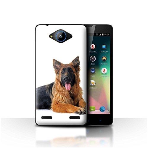 Hülle Für ZTE Blade L3 Plus Hund/Hunde Deutsch Shepherd Design Transparent Ultra Dünn Klar Hart Schutz Handyhülle Case