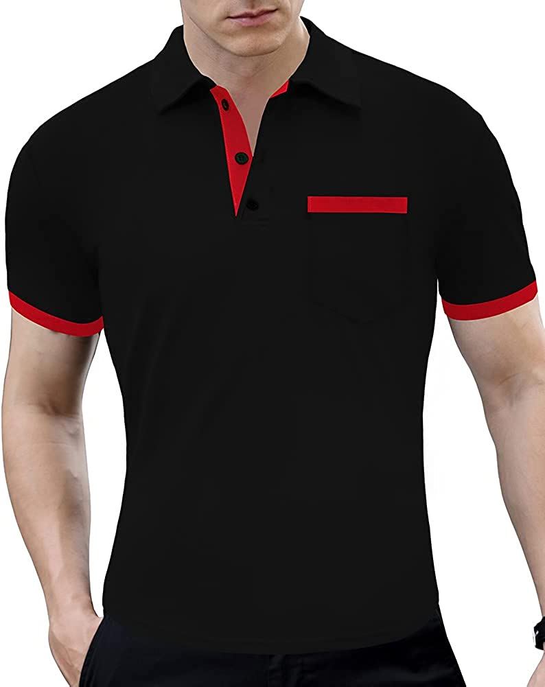 LOGEEYAR Men Polo Shirt Slim Free shipping anywhere in the nation Cotton Japan's largest assortment Sleeve Short Fit Golf