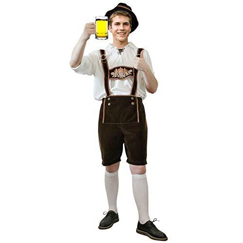 Brwoynn Oktoberfest Halloween Costume for Men, German Bavarian Costume Set, Halloween Costume for Adult