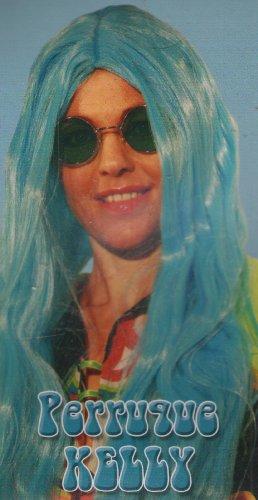 Perruque Bleue Kelly Longue