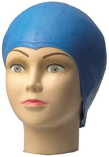 Gorro para tinte Comair de látex, gorro azul, azul, con agujeros