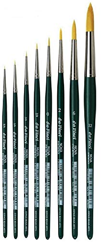 Da Vinci Serie 1570 agua Color cepillo, fibra sintética, verde, NOVA no.10/0, 5/0, 3/0, 2/0, 0,2,6, 12.
