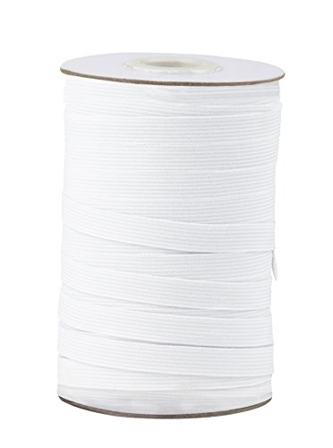 Elastic Bands for Sewing, 109 Yards x 0.5 Inch (White)