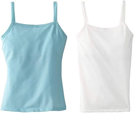 Dragonwing girlgear Girls Sports Active Wear Tank Top Multipacks in Mixed Colors Cami Style with Shelf Bra