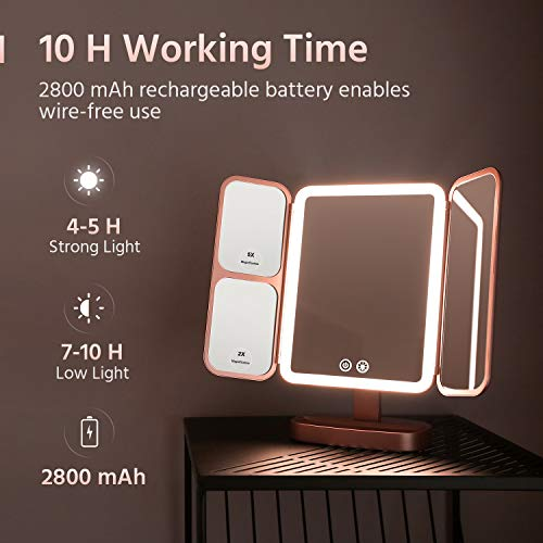 EASEHOLD Rechargeable Makeup Mirror