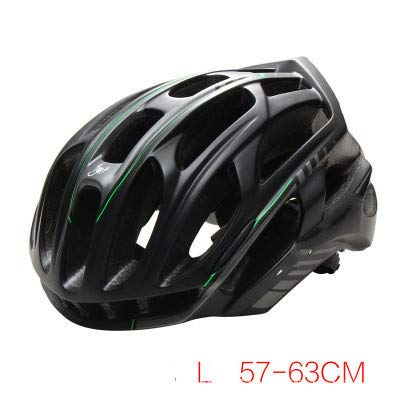 Casco da bicicletta nuovo grande casco da mountain bike a grande testa nero opaco verde L