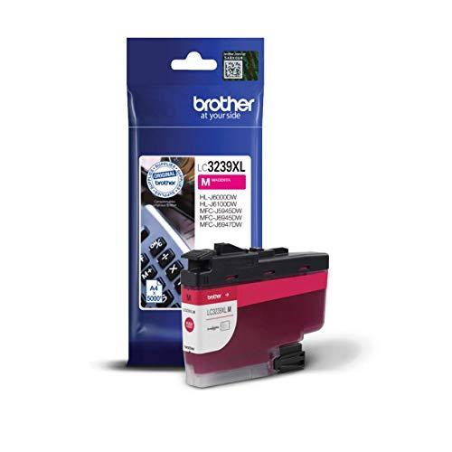 Brother Original Tintenpatrone LC-3239XLM Magenta (für Brother HL-J6000DW, HL-J6100DW, MFC-J5945DW, MFC-J6945DW, MFC-J6947DW) ca. 5000 Seiten nach ISO Standard 24711