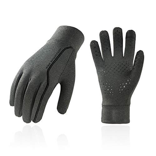 Vgo... FL3108 Herren Allzweck-Handschuhe für Radfahren, Joggen, Wandern und leichte Arbeiten, Touchscreen-kompatibel, Herren, grau, Large