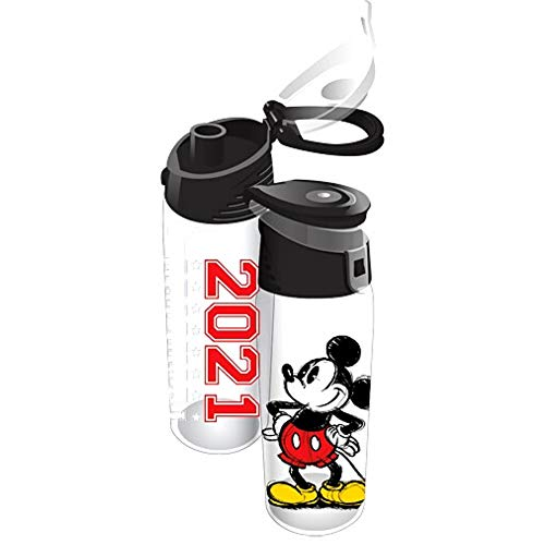 Disney Plastic Water Bottle for Kids and Adults, 2021 Original...