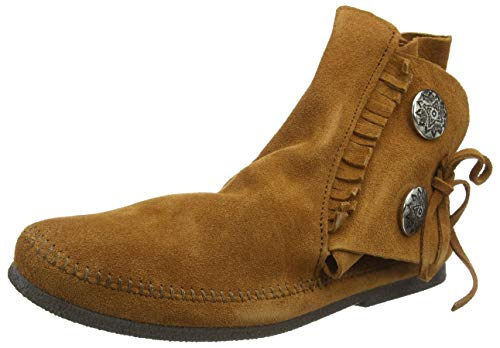 Minnetonka Men's Two Button Hardsole Boot 9 M Brown