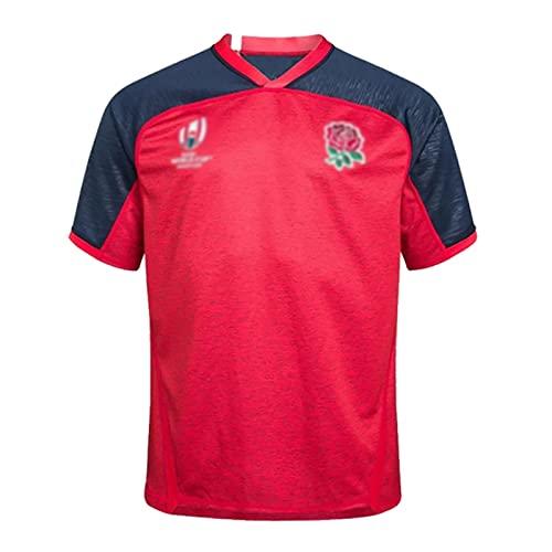 Speed-SY Rugby World Cup 2019, Camiseta De Manga Corta De Entrenamiento Deportivo De Secado Rápido De Rugby para Hombres De Local Y Visitante De Inglaterra