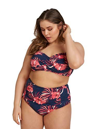 Zizzi Swim by Damen Große Größen Bikini Hose mit Blumenprint Gr 42-56