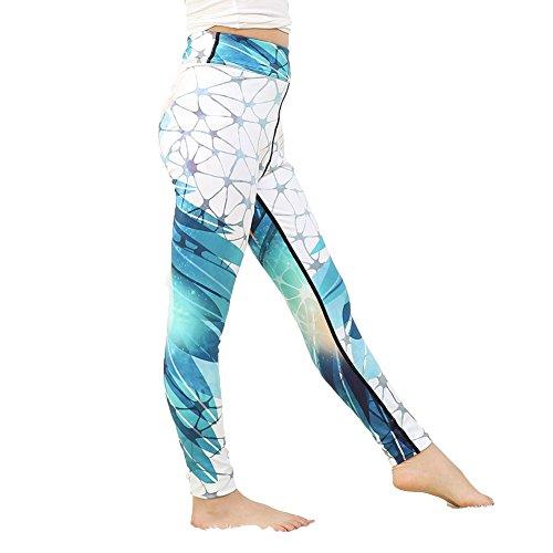 Yying Mädchen Yoga Hosen Bodybuilding Komfortable Jugend Leggings Wald Blume Floral Kinder Skinny Sporthose 97018 M