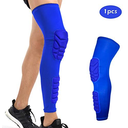 Auplew Basketball Knie Ärmel, Atmungsaktive Sport Fußball Basketball Knie Pads Brace Bein Sleeve Kalb Kompression Knie Unterstützung Schutz