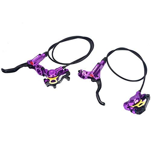 Zoom- HB-875 Hydraulic Disc Brake Front & Rear 750mm & 1400mm Set for Mountain Bike MTB BMX (Purple)