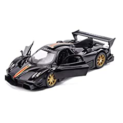 ▲[Product Name]Pagani Zonda R Model Car,ratio: 1:32, Size: length 15.5cm, width 6.5cm, height 4cm, height 4cm, beautiful appearance, manufactured according to the original car size ratio. ▲[Product Details] is made of high quality zinc alloy, ABS eng...