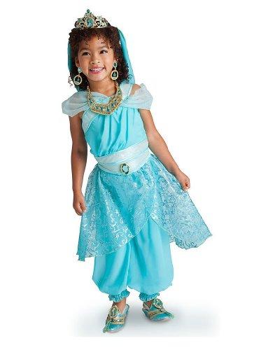 DS Disney Store - Disfraz de Jasmine Princesa para niña, original, 4 años