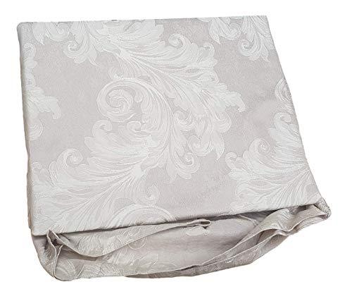GF Ferrari Jade - Colcha de raso con volante para cama de matrimonio (2 plazas), color gris