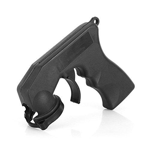 Pistola Pulverizadora Mango Adaptador Portátil Pintura Manija de Aerosol Herramienta de Reparación con Agarre Completo Gatillo de Bloqueo Mantenimiento del Automóvil