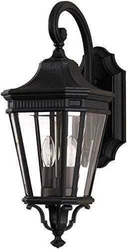 Applique descendante H 52,1cm Cotswold 2x60W - Noir - Boutica-Design - fecotsln2mbk