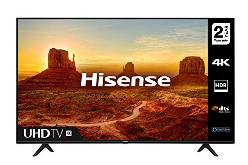 HISENSE 55A7100FTUK 55-inch 4K UHD HDR Smart TV with Freeview play, and Alexa Built-in (2020...