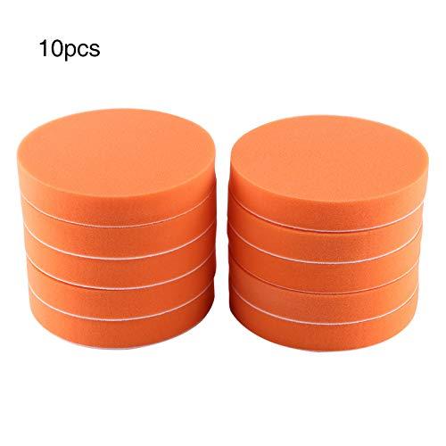 Nicoone 10pcs 6 (150 mm) Esponja Pulido Pulido Cera Pad Kit Herramienta Para Pulido Pulidor De Coche Buffer Naranja