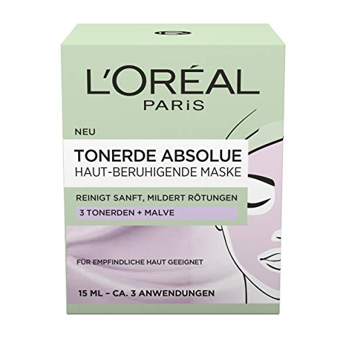 L'Oréal Paris Tonerde Absolue Haut-beruhigende Maske, 2er Pack(2 x 15 ml)