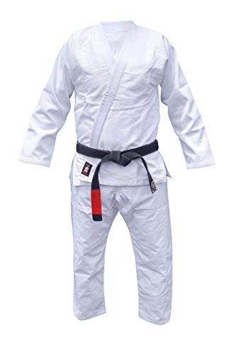 Your Jiu Jitsu Gear Brazilian Jiu Jitsu Premium Uniform A3 White with FREE BJJ White Belt
