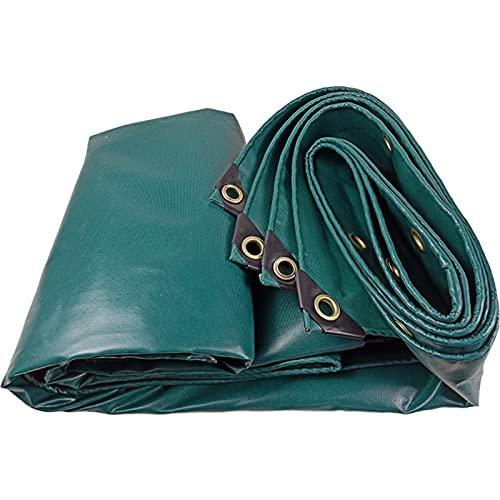 Solamlya Multi-Scopo Teloni,Resistente Telone,PVC Doppio Rivestimento Impermeabile Telone Rifugio con Grommets Fit for Canopy Tenda Barca Piscina All'Aperto Campeggio-Verde Scuro 4x4m