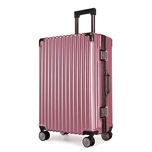 Ys-s Personalización de la tienda Carro de aleación de aluminio caso de la maleta de cierre universal rueda maleta marco en forma de costumbres especiales en contraseñas cuadro transpirable, resistent