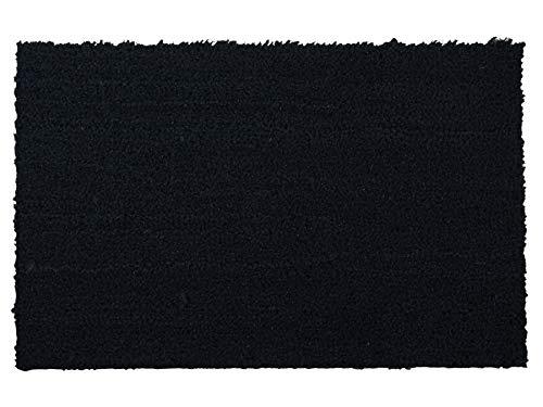 Primaflor - Ideen in Textil Kokos-Fußmatte aus Naturfasern - Schwarz, 40 x 60 cm, 17mm Höhe, rutschfeste und Robuste Türmatte, Haustür-Schmutzfangmatte für Innen & Außen